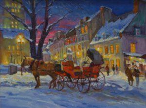 Vieux Québec et lumière hivernale